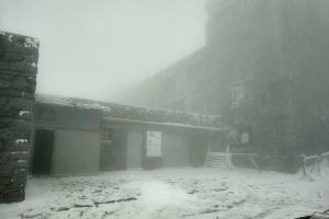 Nevada y neblina en los Cárpatos