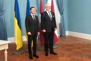 Зеленський подякував Латвії за підтримку України у ПАРЄ