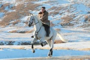 Кім Чен Ин піднявся на білому коні на найвищу гору КНДР