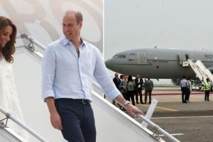 Самолет с принцем Уильямом и Кейт Миддлтон не смог приземлиться в Исламабаде