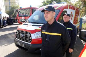 Пожежні команди ОТГ двох областей отримали спецспорядження з Польщі