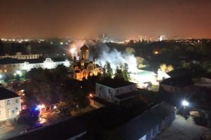 В Одесі горить монастир