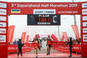 На Запорожском полумарафоне установили два рекорда трассы
