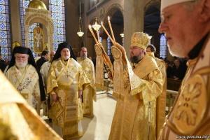 Епіфаній очолив літургію у храмі Грецької православної архієпископії Америки