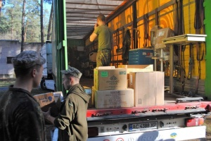 Військовий госпіталь в Ірпіні отримав гуманітарну допомогу зі США та Канади