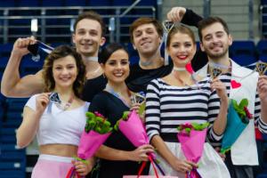 Patinadores ucranianos ganan el bronce del torneo internacional en Minsk