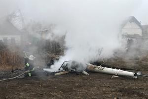 На Полтавщині впав вертоліт, є загиблий