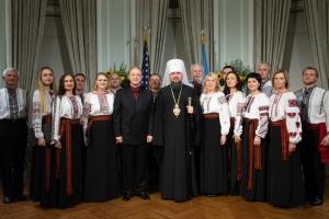 Епіфаній у США зустрічається з українською громадою
