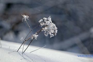 Les Carpates ukrainiennes couvertes de neige