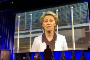 Ursula von der Leyen: La anexión de Crimea es el primer cambio forzado de las fronteras después de la Segundo Guerra Mundial