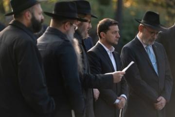Zelensky commemorates Babi Yar massacre victims
