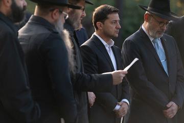 Zelensky honra la memoria de los ejecutados en Babi Yar