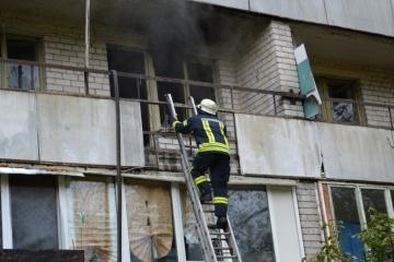À Dnipro, un incendie s'est déclaré dans une maison de retraite
