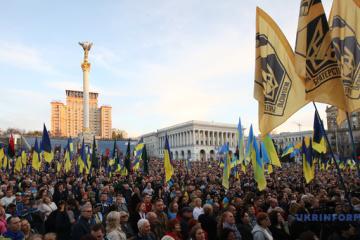 """Marsch """"Nein zur Kapitulation"""": Polizei schätzt Zahl der Teilnehmer auf rund 12.000"""