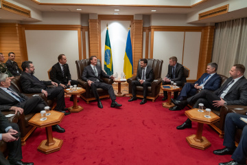 Zelensky meets with president of Brazil