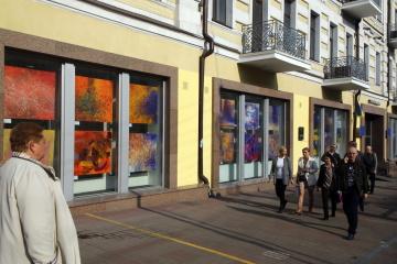 В Укринформе открылась выставка картин современной художницы Ольги Кондрацкой