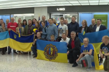 Ukrainian defenders taking part in Marine Corps Marathon in US