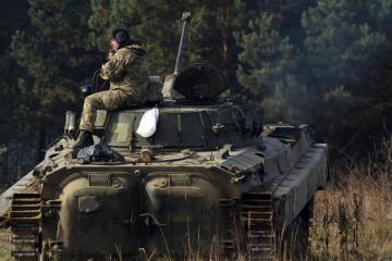 Okupanci w Donbasie 11 razy naruszyli zawieszenie broni