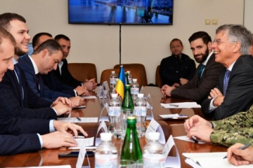 Krykliy and Taylor in Mariupol discuss cooperation in river sector and infrastructure projects
