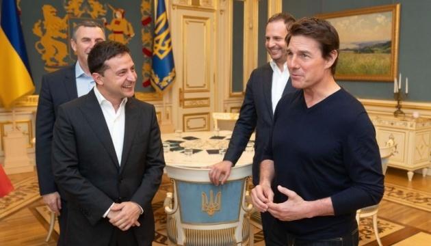 Selenskyj empfängt Tom Cruise in Kyjiw - Foto