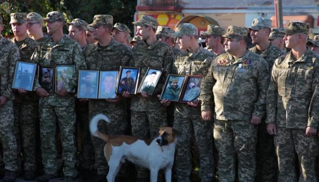 В Яворове встретили 24-ю бригаду, которая вернулась с Донбасса