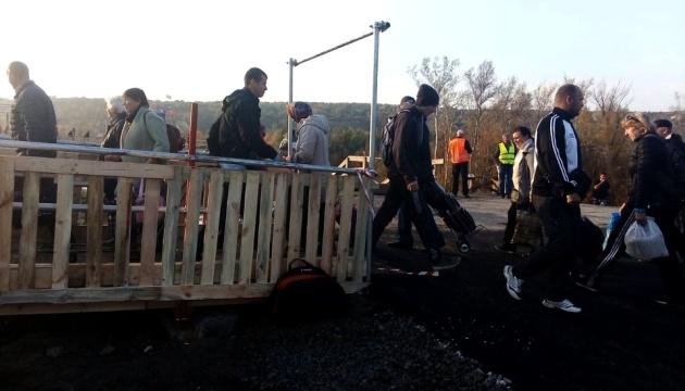 Behelfsbrücke in Stanyzja Luhanska eröffnet