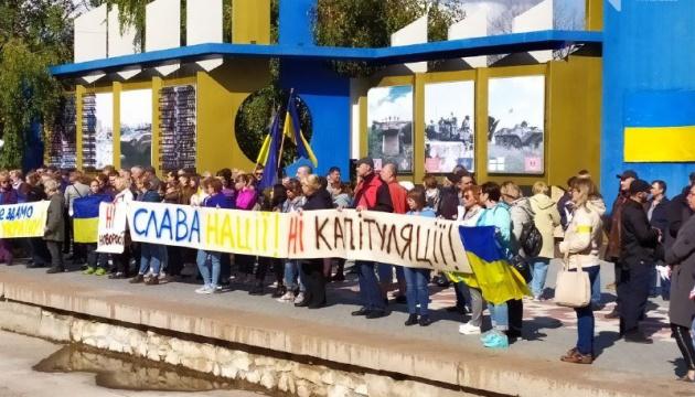 Миколаївці на віче закликали владу не капітулювати перед Росією