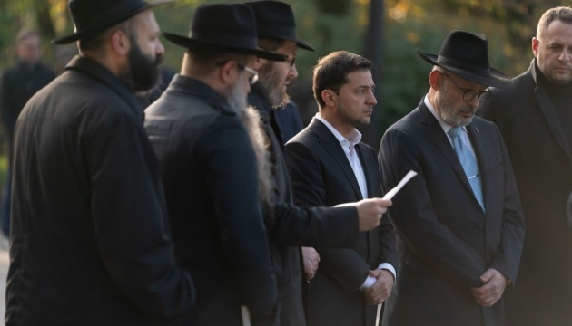 Zelensky commemorates Babi Yar massacre victims
