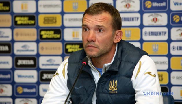 Шевченко: Футболісти готові до гри з Литвою, лише у Миколенка мікротравма