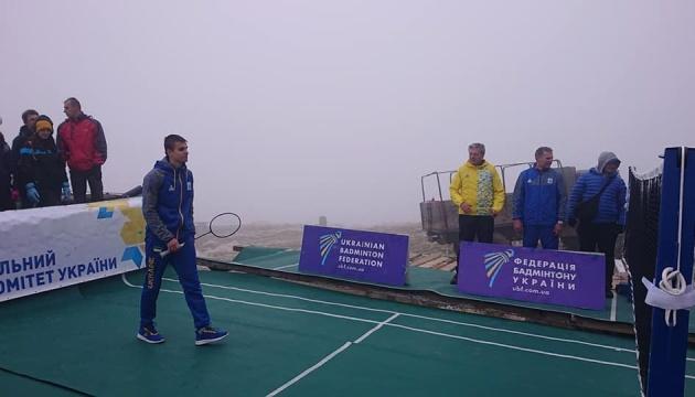 Українські спортсмени зіграли у бадмінтон на висоті 2000 метрів