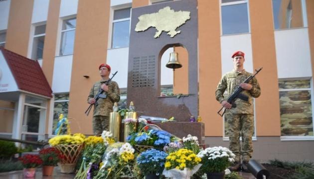 У Запоріжжі відкрили пам'ятний знак загиблим воїнам 55-ої артбригади