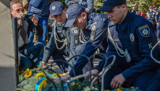 В Мариуполе состоялся митинг ко Дню защитника Украины