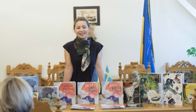 Українська ілюстраторка представила свою діяльність українцям у Швеції