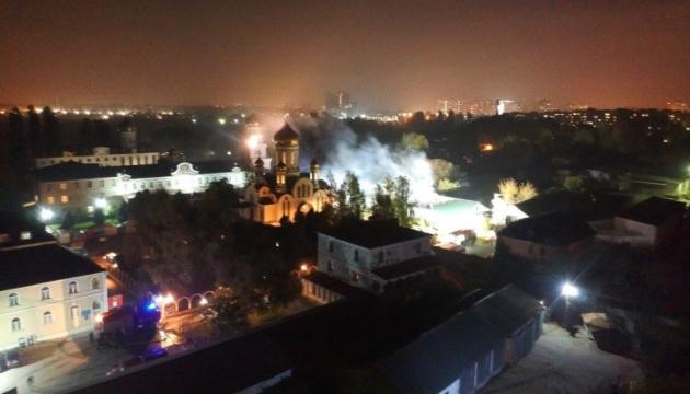 В Одессе горит монастырь