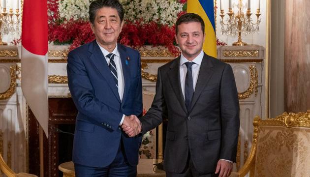 Зеленский встретился с премьером Японии Абэ