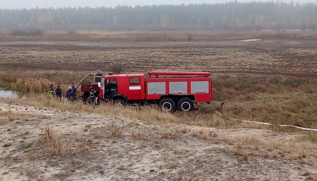 В Україні гасять пожежі на дев'яти торфовищах