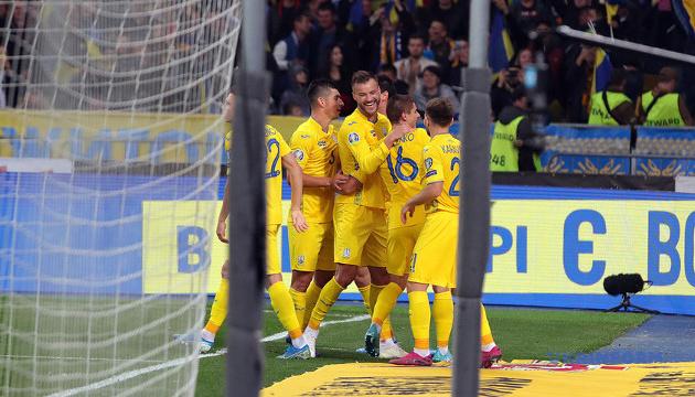 Сборная Украины поднялась на три позиции в рейтинге ФИФА