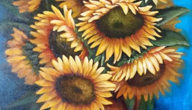 Українська художниця в Італії виставила на аукціон картину для допомоги родині Марківа