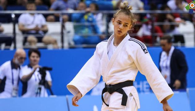 La judoka ukrainienne Daria Bilodid a remporté « l'or » au tournoi du Grand Chelem