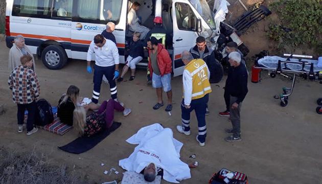 В ДТП в Турции пострадали десять украинских туристов