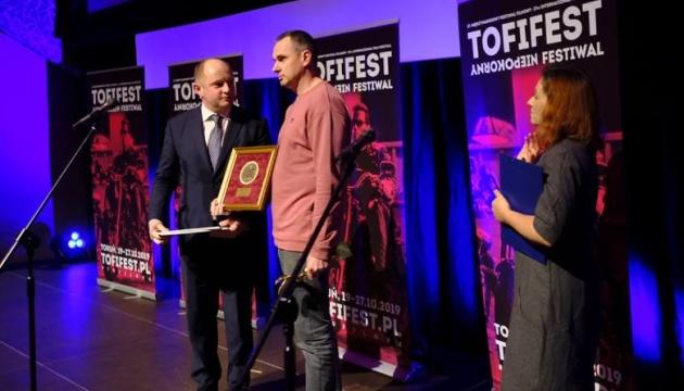 Сенцов отримав нагороду за творчу нескореність на кінофестивалі у Польщі