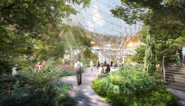 В аэропорту Дохи появится тропический сад с водопадом