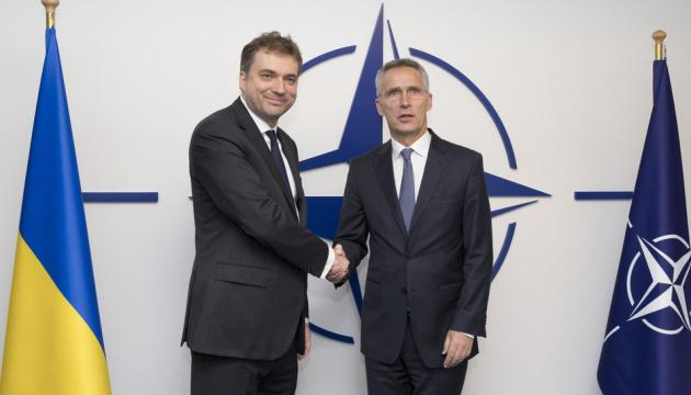 Zahorodniuk spotkał się z Sekretarzem Generalnym NATO