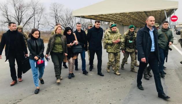 Гончарук побывал на КПВВ в Новотроицком
