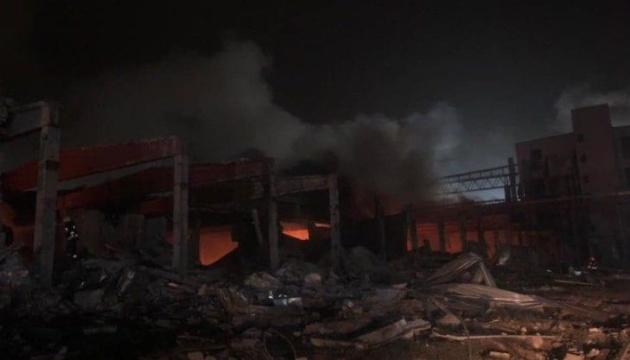 Explosion und Brand in Pflanzenöl-Raffinerie in Dnipro