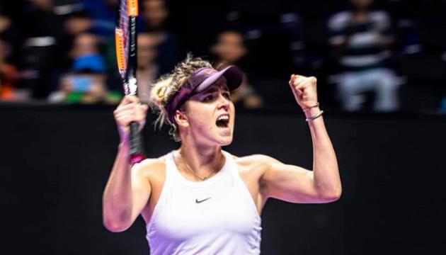 Tennis: Svitolina wurde Autorin des besten Schlags des Tages beim WTA-Finale