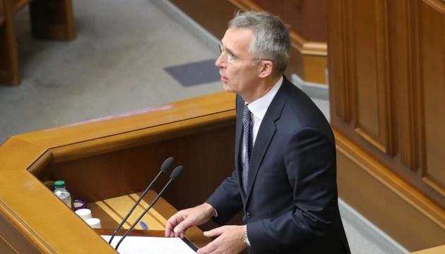 Nato-Generalsekräter Stoltenberg spricht vor Parlament der Ukraine