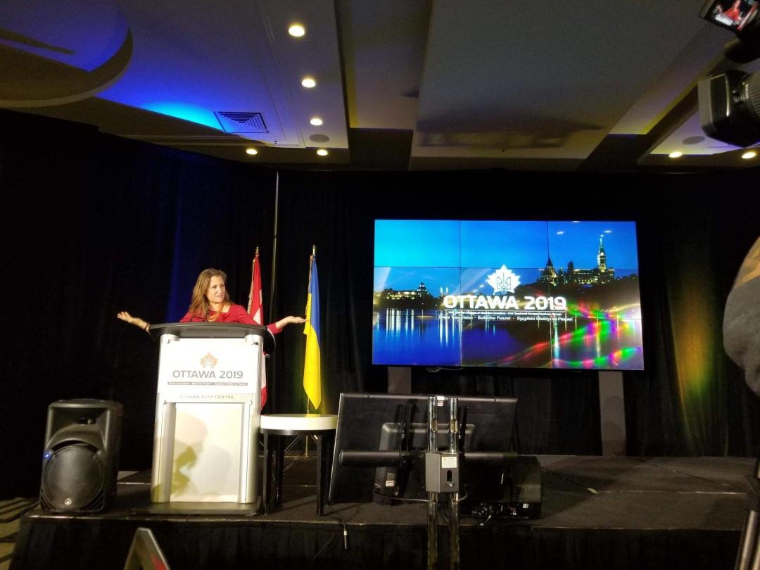 міністр закордонних справ Канади Христя Фріланд з'їзду Конгресу українців Канади