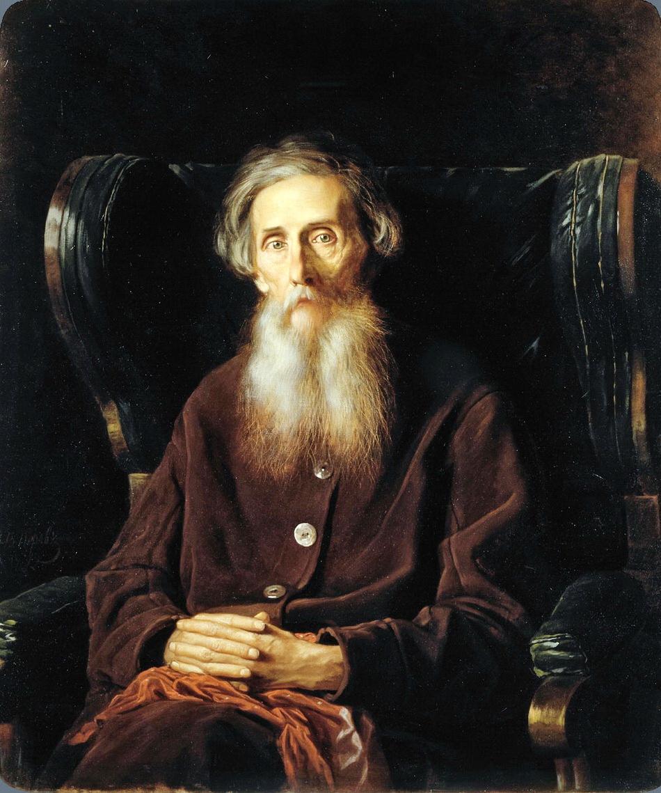 Василий Перов (1833-1882), портрет писателя Владимира Ивановича Даля, 1872 г., холст, масло, 94 × 80.5 см