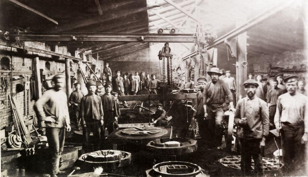Ливарний цех заводу Якова Нібура, фото початку 1900-х років